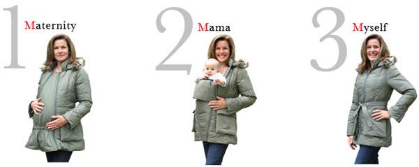 manteau de grossesse et future maman 3 en 1. Black Bedroom Furniture Sets. Home Design Ideas
