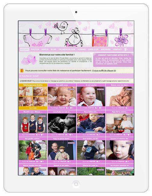 Idéal pour créer son espace photo privé et partager ses photos de grossesse, de naissance et l'évolution de son bébé avec ses proches