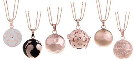 bolas de grossesse or rose