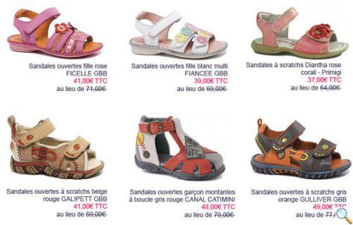 chaussures et sandales enfants