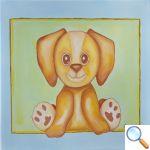 tableau chambre bébé petit chien