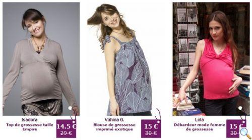 promotions vêtements de grossesse et maternité